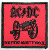 AC/DC - 'For Those About to Rock' Embroidered Patch